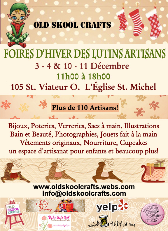 Accueil - Old Skool Crafts - Foire Artisanale - Artisan Fair :  market artists artisans montreal